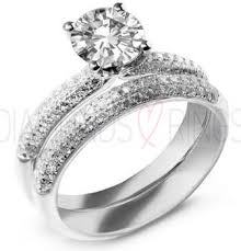 bridal ring sets uk pave engagement ring wedding ring set diamondsandrings co uk