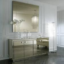 furniture glamorous mirrored buffet for living room design with