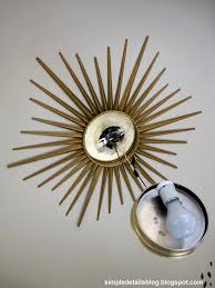 gold ceiling light fixtures diy ceiling lighting simple details diy gold sunburst flush mount