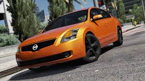 nissan altima 2002 custom nissan altima 3 5se add on replace template gta5 mods com