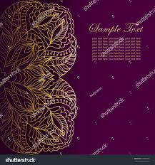 Background Of Invitation Card Invitation Card Lace Ornamentvintage Gold Lace Stock Vector