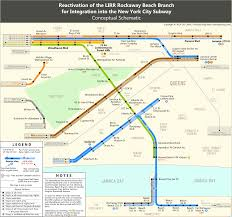 New York Rail Map by Rockaway Beach Branch Queens New York Transbay Blog