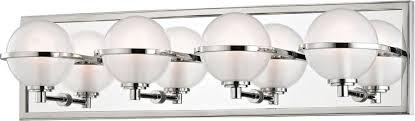 nickel bathroom wall light fixtures hudson valley 6444 pn axiom modern polished nickel led 4 light