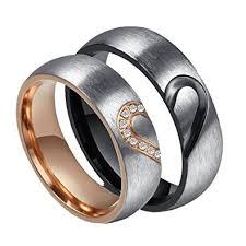 wedding bands men rowag 6mm men heart shape titanium stainless steel