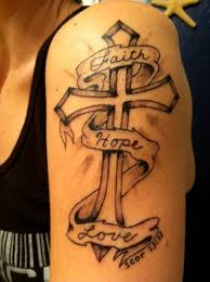 cross shoulder tattoo pain is love jesus cross tattoo design photos pictures and
