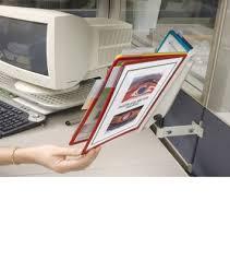 Desk Reference System by Sherpa Panel Bracket Durable Catalog Rack Reference System 5534 00