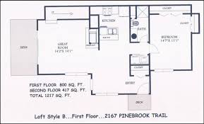 Home Plans With Loft Ranch Floor Plans Log Homescabin Style House Plans With Loft