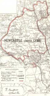 map of newcastle lyme boroughs of hanley newcastle lyme stoke upon trent maps 1885