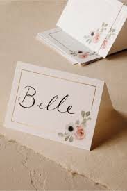 place cards peeking florals place cards 10 white in sale bhldn
