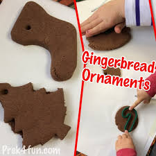 no bake gingerbread salt dough ornaments prek4fun