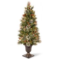 national tree company 4 ft wintry pine entrance artificial