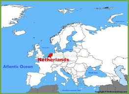netherlands map netherlands location on the europe map