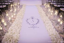 black aisle runner cook events nfl client s trend setting black white wedding