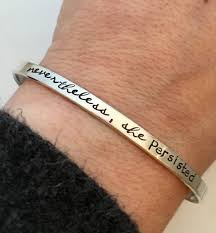 cuff bracelet sterling images Nevertheless she persisted bracelet sterling silver cuff jpg