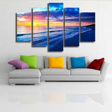 Hanging Canvas Art Without Frame Paint Sea Sunrise Canvas Online Paint Sea Sunrise Canvas For Sale
