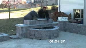 grand waterfall outdoor living kit time lapse youtube