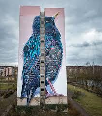 Giant Wall Murals by Giant Starling Mural In Berlin By Collin Van Der Sluijs And Super