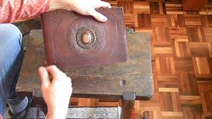 handmade leather photo albums handmade embossed leather photo album with inlay 1 4 sse a