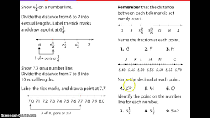 fractions and decimals on a number line review youtube