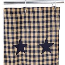 Country Star Home Decor Primitive Country Style Shower Curtains Navy Star Curtain Loversiq