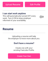 upload your resume resume for your job application
