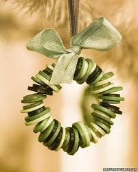 button wreath ornament christmas ornament ornament and craft