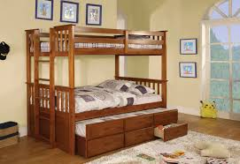 Bunk Beds With Trundle Uctriple Bunk Beds With Trundle Is - Wooden bunk bed with trundle
