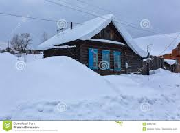 house lots old house with lots of snow stock image image 83687783