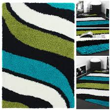 Wohnzimmer Schwarz Grun Moderne Teppiche Schwarz Weiß Shaggy Teppich Hochflor Langflor