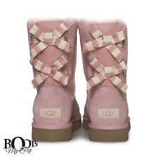 womens ugg boots uk size 9 ugg womens bailey bow stripe boots blush pink size 9 style 1015117