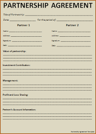 3 simple partnership agreement template outline templates