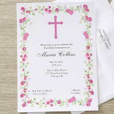 communion invitations girl s personalized holy communion invitations floral design