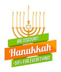 hanukkah sale happy hanukkah sale emblem design stock vector illustration of