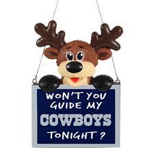 nfl dallas cowboys reindeer ornament