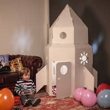 cardboard rocket a great gift for toddlers mightymega