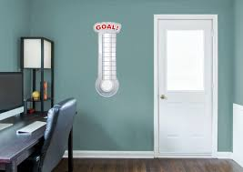 dry erase goal thermometer wall decal shop fathead for dry