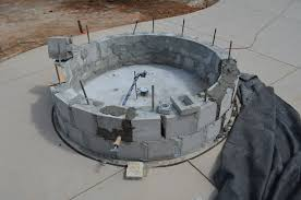 Building Outdoor Fireplace With Cinder Blocks by Round Cinder Block Fire Pit Design And Ideas