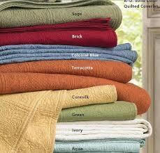 Solid Colored Comforters Solid Color Cotton Matelasse Tile Quilt