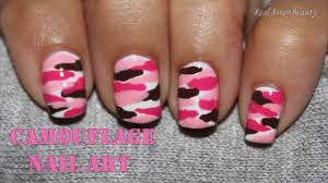 pink camouflage nail art youtube