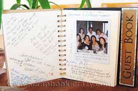 guestbook wedding scrapbook wedding guest book