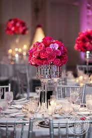pink and silver wedding decorations