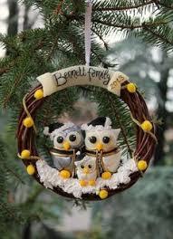 family tree ornament owl family by perlillapets