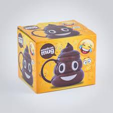 emoticon poo mug ceramic poo emoji poo mug with lid menkind