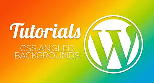 wordpress quick tutorial wordpress tutorial how to create angled backgrounds with css in