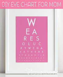 mothers gifts diy eye chart personalized mothers day gift