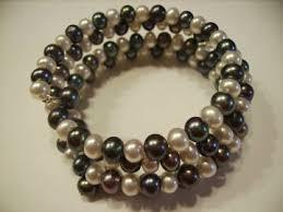 black pearl bracelet jewelry images Freshwater pearl wrap bracelets jpg