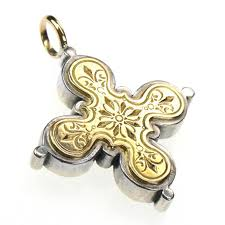 byzantine crosses 5223 solid 18k gold sterling silver byzantine cross