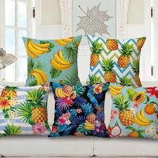 taie d oreiller pour canapé nouveau tropical coussin couverture jungle banane throw taie d