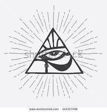 eye horus eye ra on triangle stock vector 442317496
