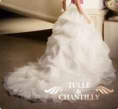 Wedding Dress With Train Tulle U0026 Chantilly Rustic Wedding Dresses Inspiration Tulle